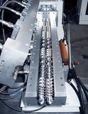 Extrusor de polimeros extrusora husillo doble
